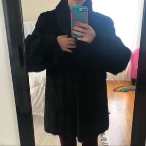 Jackets & Blazers - Vintage Black Mink Coat